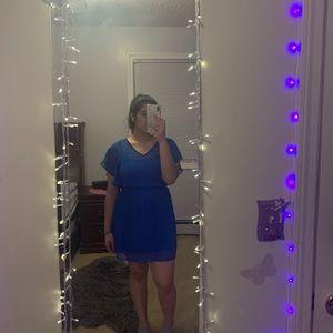 Blue float mini dress